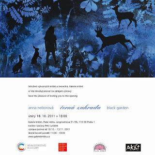 Exhibition – Anna Neborová – Black Garden
